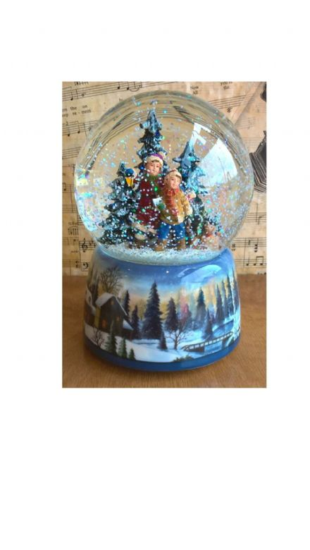 Musical Children in Forest  Waterglobe 55122
